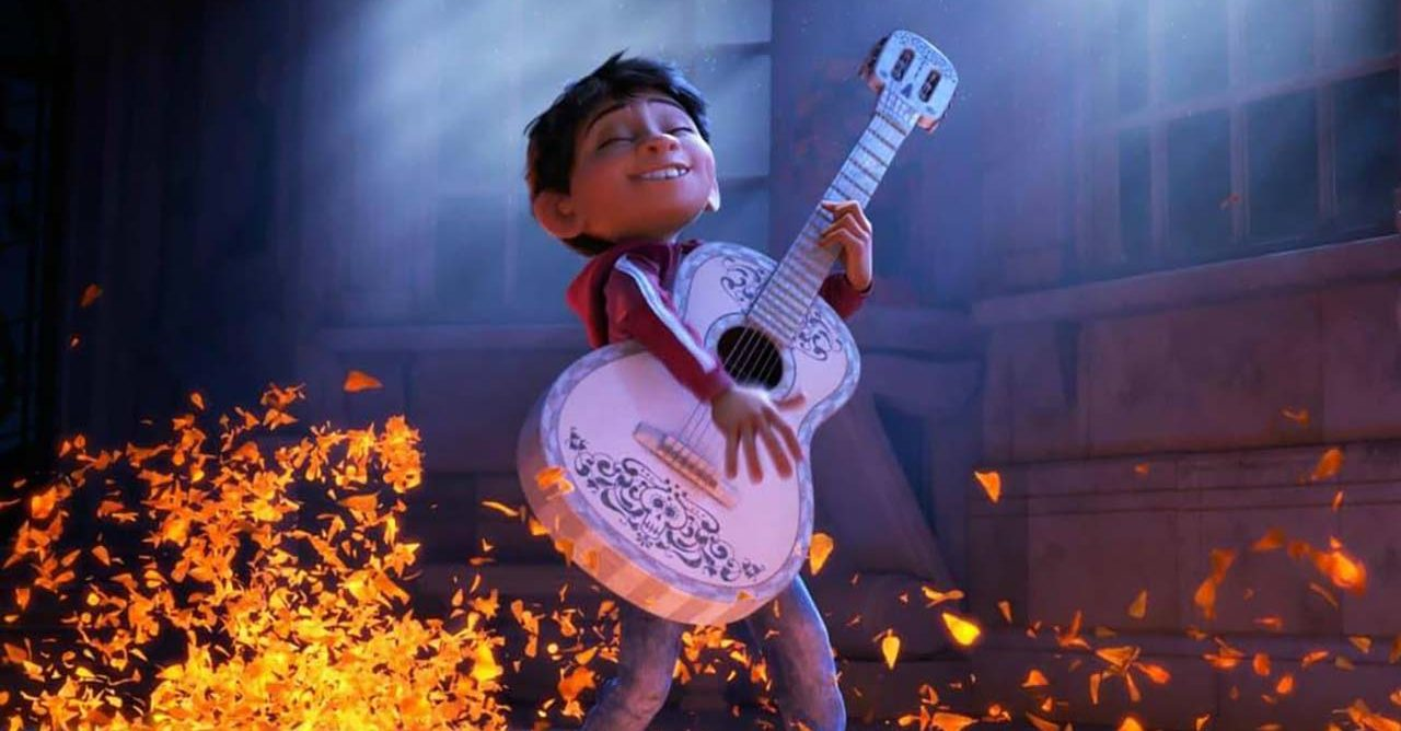 animated character playing guitar